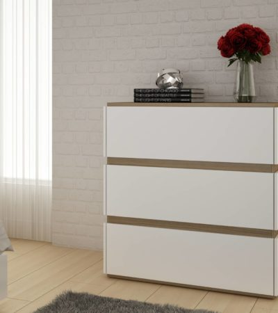 BCM 20.22 Dresser with 3 Drawers